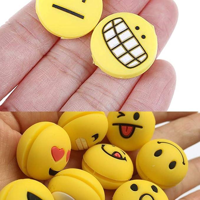 18er Set Lächelndes Gesicht Vibrationsdämpfer für Tennchläger