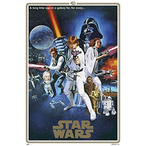 Grupo Erik editores- Poster Star Wars 40Anniversary One Sheet B