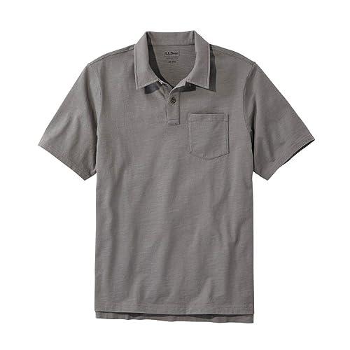 L.L.Bean メンズ レイクウォッシュ・オーガニック・コットン・ポロシャツ