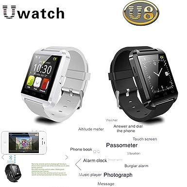 Nueva U8 SmartWatch Plus inteligente Reloj Bluetooth con más funciones de la calculadora, radio FM