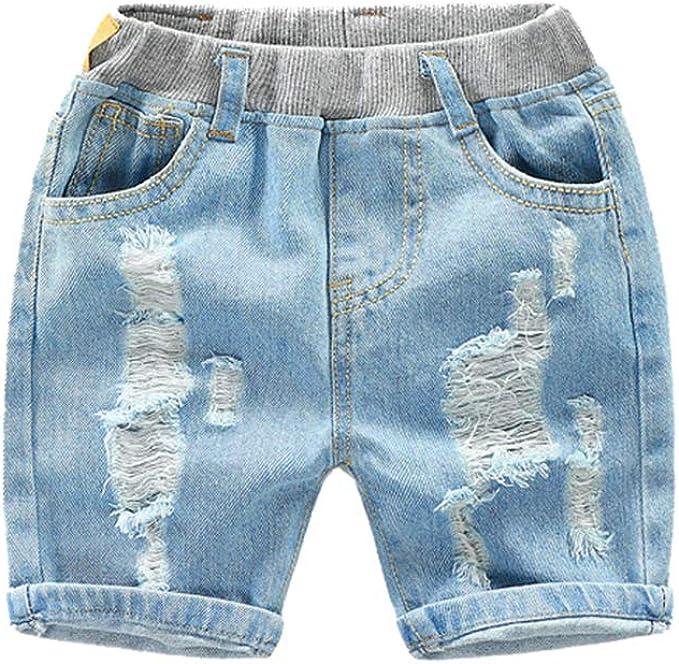 Pantalón Vaquero Corto Niño Shorts Vaqueros Rotos Pantalones Cortos de Verano para Niños: Amazon.es: Ropa y accesorios