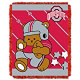 Ohio State OFFICIAL Collegiate, Fullback Baby 36 x 46 Triple Woven Jacquard Throw