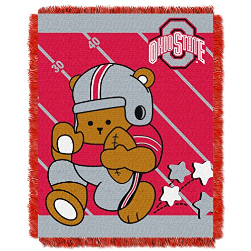 Ohio State OFFICIAL Collegiate, Fullback Baby 36 x 46 Triple Woven Jacquard Throw by Northwest Official
