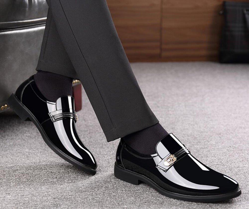 CAI CAI CAI Herren Leder Business Spitz Lederschuhe Frühling Herbst Winter Mens Lace up Mode Stiefel Party & Abend & Büro Formelle Schuhe (Farbe   Schwarz, Größe   44) 31c2ba
