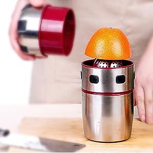 HTYX Healthy Juicer Using Cold Pressing Process Hand-Orange Juicer Kitchen or Dining Room Lemon Pomegranate Orange Juice Children's Juice Machine