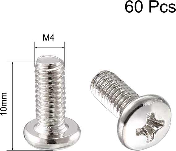50 stücke M4x20mm 304 Edelstahl Kreuzkopf Runde Flachkopf Blechschrauben