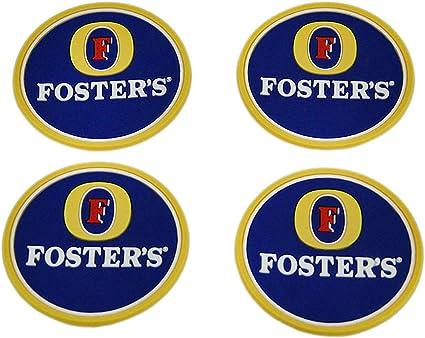 10 X FOSTERS LAGER DRINKS MATS PUB BAR BEERMATS BEER MANCAVE Bar Beer Coasters