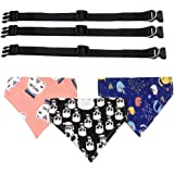 FengHan Pet Dog Cat Bandanas Scarf Adjustable Collar 3pc Small Medium Large Breeds