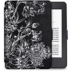 WALNEW Amazon Kindle Paperwhite Case Lightest and Thinnest Premium Leather Smart Protective Cover for Kindle Paperwhite with Auto Wake/Sleep Function