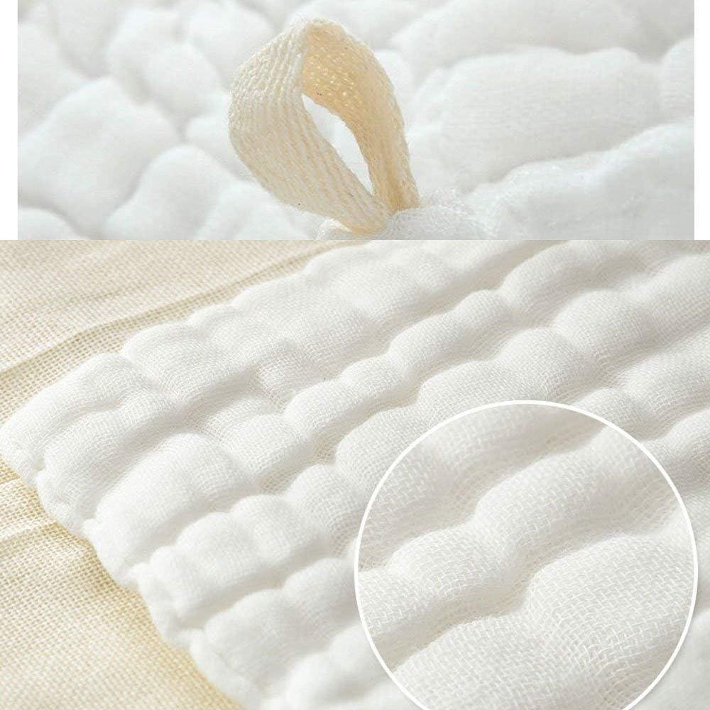 serviette pour b/éb/é nouveau-n/é respirante et respirante pour peaux sensibles lingettes 100/% coton naturelles pour b/éb/é 12x12 LIUNIAN 10 PACKS d/ébarbouillettes pour b/éb/é en mousseline de soie
