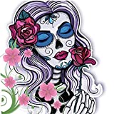 KoKoWill DIY 5D Diamond Painting Kit for Adults, Full Drill Square Crystal Rhinestone Embroidery Home Wall Decor Art Craft Canvas,Halloween Sugar Skull Woman,11.81 x 11.81 inches