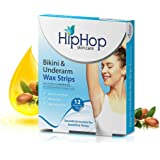 Hiphop Skincare Bikini and Underarm Wax Strips with Argan Oil (Pack Of 2)