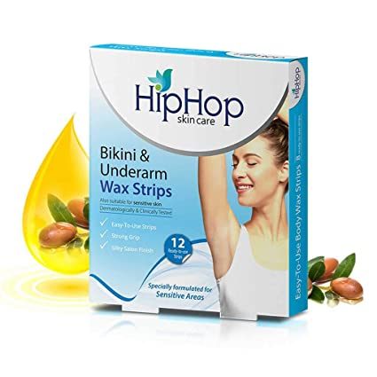 8d38b8c20cb Buy Hiphop Skincare Bikini and Underarm Wax Strips with Argan Oil (Pack Of  2) Online at Low Prices in India - Amazon.in