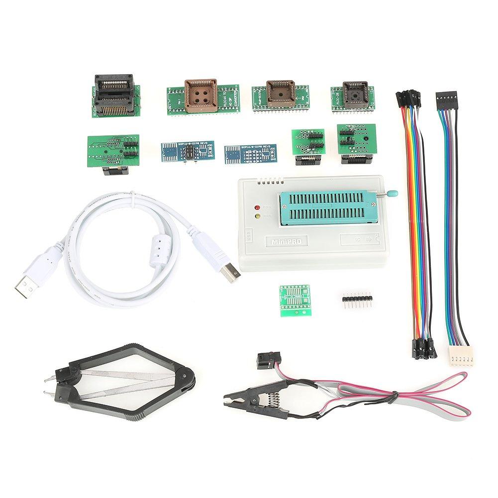 USB Programmer, Asixx USB Universal Programmer for TL866II Plus EEPROM Flash 8051 AVR MCU GAL PIC with 10 Adapters for Win 2000/WIN XP/Win 2003/WIN 2008/WIN VISTA/WIN7/WIN8/WIN10 (32BIit/64Bit)