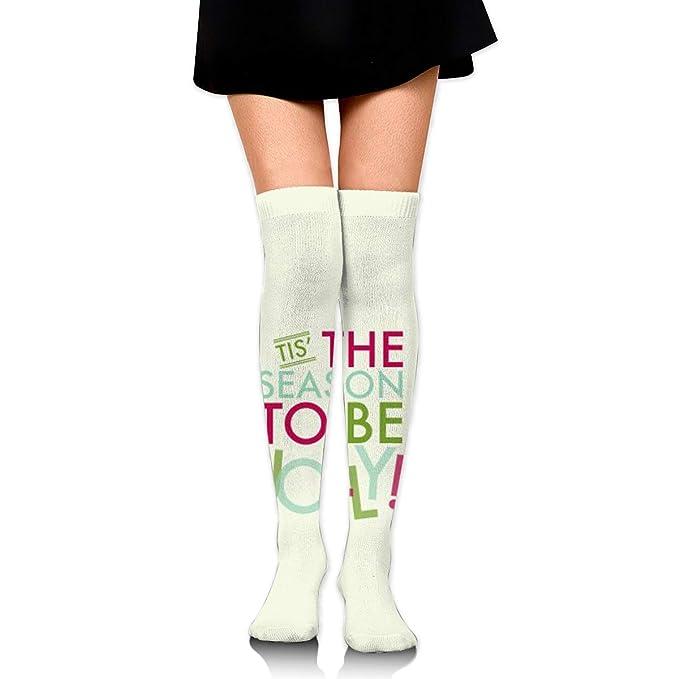 0ac665c8a Amazon.com  Custom Unisex Stockings-Merry-Christmas Knee High Protective  Long Socks Stockings