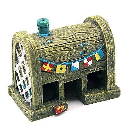 Omeny 1 Pc Acuario Fish Tank Cangrejo Casa Ornamento Decoración-Luz Amarillo