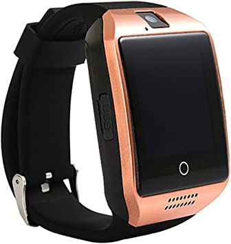 ZOMTOP Q18 Smart Watch teléfono Bluetooth cámara SIM TF Tarjeta SmartWatch para Android Samsung LG Google Pixel y iPhone 7 7Plus 6 6S 6S Plus (Gold): Amazon.es: Electrónica