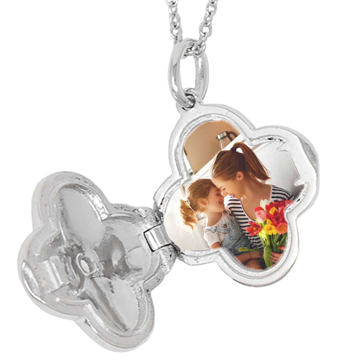 With You Lockets-Custom Photo Locket Necklace-That Holds Pictures for Girls-I Love You More-The Calla