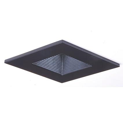 HALO Recessed 3012BKBB 3-Inch 15-Degree Trim Lensed Square Shower Light on