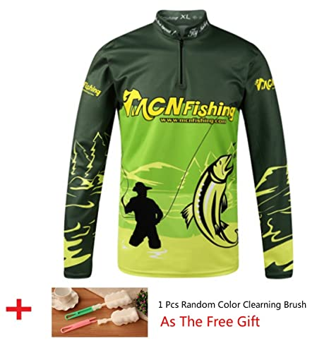 0de01449947 HDSX Performance Long Sleeve Fishing Shirt Zipper Stand Collar Fishing Wear  Outdoor UV Sun Protection Quick Dry Mesh Rash Guard Loose Fit for Men and  Women