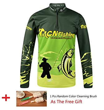 5c6af57cac7 HDSX Performance Long Sleeve Fishing Shirt Zipper Stand Collar Fishing Wear  Outdoor UV Sun Protection Quick