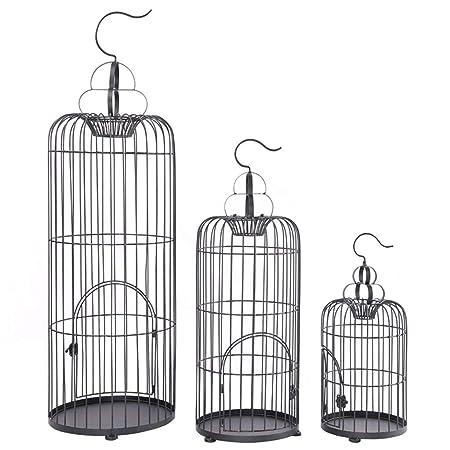 jaula Decoración pájaros de Hierro Forjado Europea, Soporte de ...