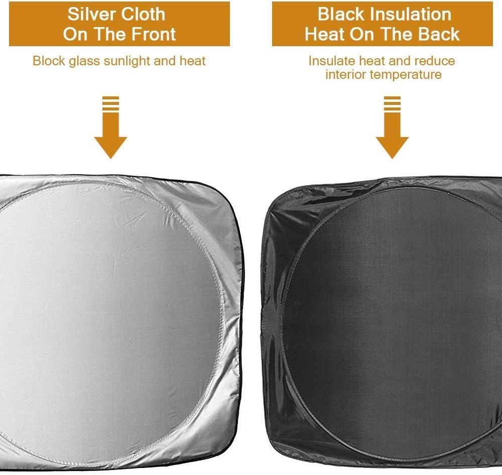 Parasol del Parabrisas del Coche Protector de la Visera para el Sol Ajuste Universal para la mayor/ía de Las camionetas SUV para autom/óviles Parasol Plegable de la Ventana Delantera del Coche