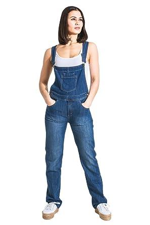 Amazon.com  Cindy H Womens Bib Overalls - Light Wash Regular Fit ... b5981d836f