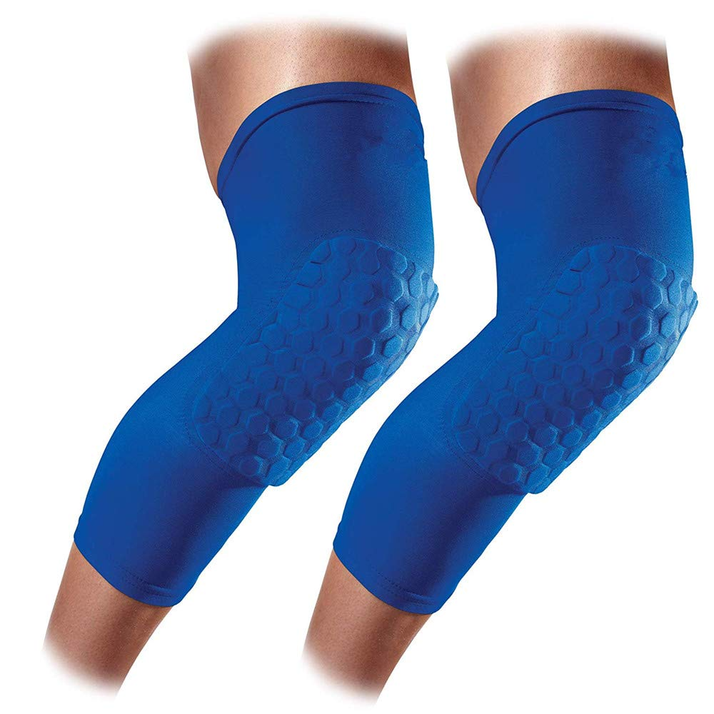 Knee Guards Sports Anti-Collision Knee Protectors Breathable Non-Slip Bicycle Outdoor Knee Pads for Basketball Skiing Riding Skating Knee Support (Color : Blue, Size : M) crystalzhong