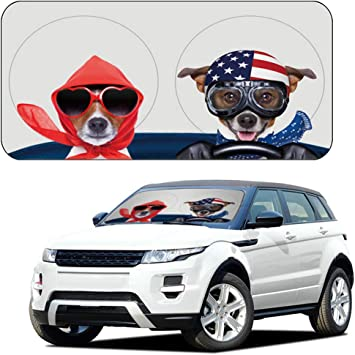 Portable Big Cute Cartoon Car Window Sun Shades Automotive Outdoor UV Rays Protector Waterproof Folding Sun Visor Shield Cover for Baby- 59x33 AYAMAYA Car Sun Shade Windshield Cute Eye Sunshade