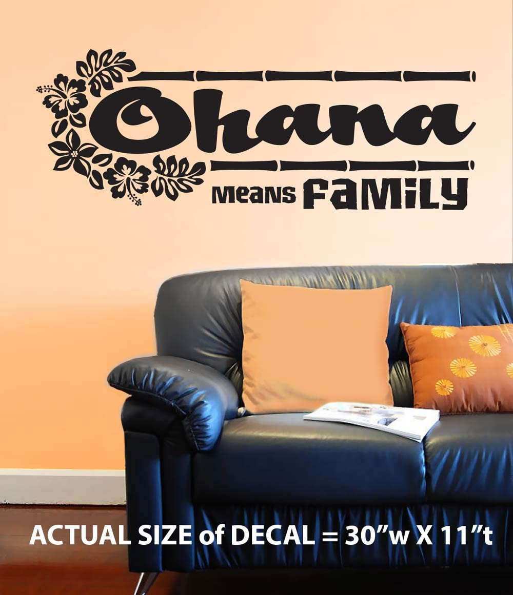 Amazon ohana means family wall dcor sticker vinyl decal amazon ohana means family wall dcor sticker vinyl decal from disneys lilo and stitch plus free bonus home kitchen amipublicfo Images