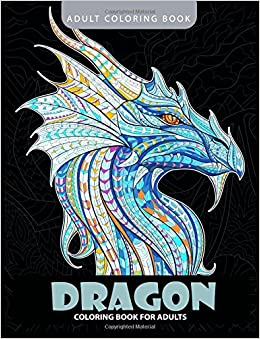 Dragon Coloring Book Adult Books