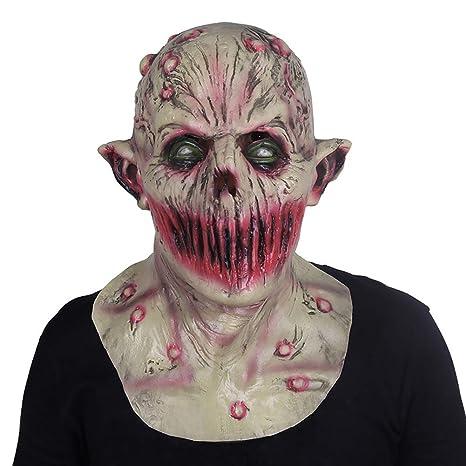 Realistic Scary Halloween Masks.Amazon Com Weters Halloween Mask Latex Hood Horror Scary Realistic