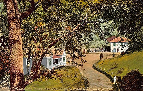 Sonoma County California The Geysers Cottage and Hotel Antique PC J38744