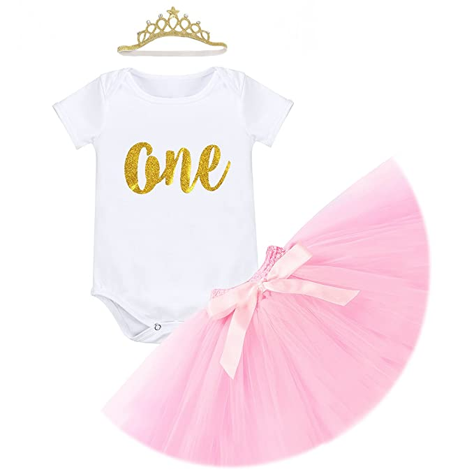 Amazon Obeeii First Birthday Baby Girl Cake Smash Outfits One