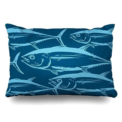 Ahawoso Funda de Almohada 14 x 24 para Pesca, diseño de ...
