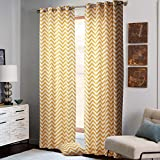 "IYUEGOU Eco-friendly Bright Orange Broken Line Pattern Grommet Top Lining Blackout Curtains Draperies With Multi Size Custom 50"" W x 84"" L (One Panel)"