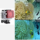 Logicom Mini Waterproof 1080p HD Underwater Camera, 2-Inch LCD Screen With Mounts and Underwater Lens Filter