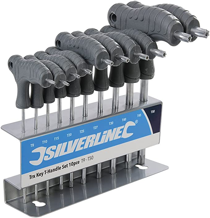 Silverline 328015 Destornilladores TRX con Mango en T