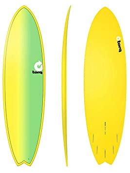 TORQ Tabla de Surf epoxy Tet 6,10 Fish Full Fade