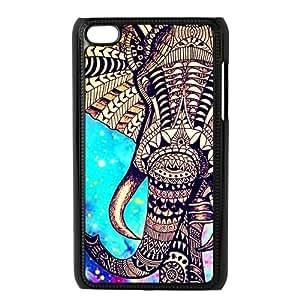 Customiz Animal Aztec Elephant Back Cover Case for ipod Touch 4Kimberly Kurzendoerfer