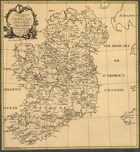 Map: 1795 Ortelius Improved, or a new of Ireland : Wherin are inserted the principal families of Irish and English extraction, who possess'd that kingdonsic on the commencement of the - Map Cent