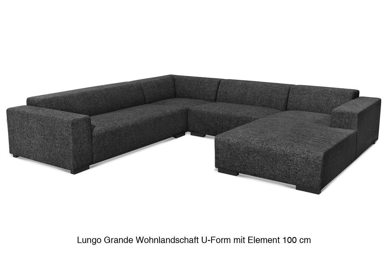 Avandeo Lungo Grande Wohnlandschaft U Form Element 80 L Stoff