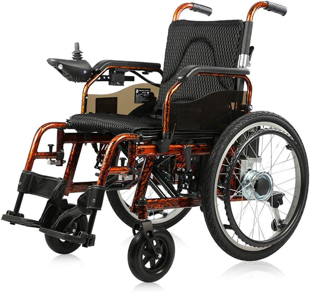 Silla de ruedas eléctrica,silla de ruedas para discapacitados ligera y plegable, motor dual 250W20AH batería de plomo-ácido,cambio manual de modo eléctrico,controlador basculante universal 360 °