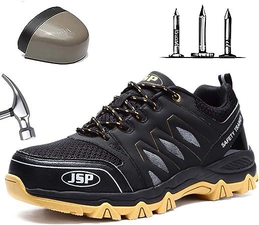 Homme Chaussures De Securite Respirante Chaussure De Travail Avec