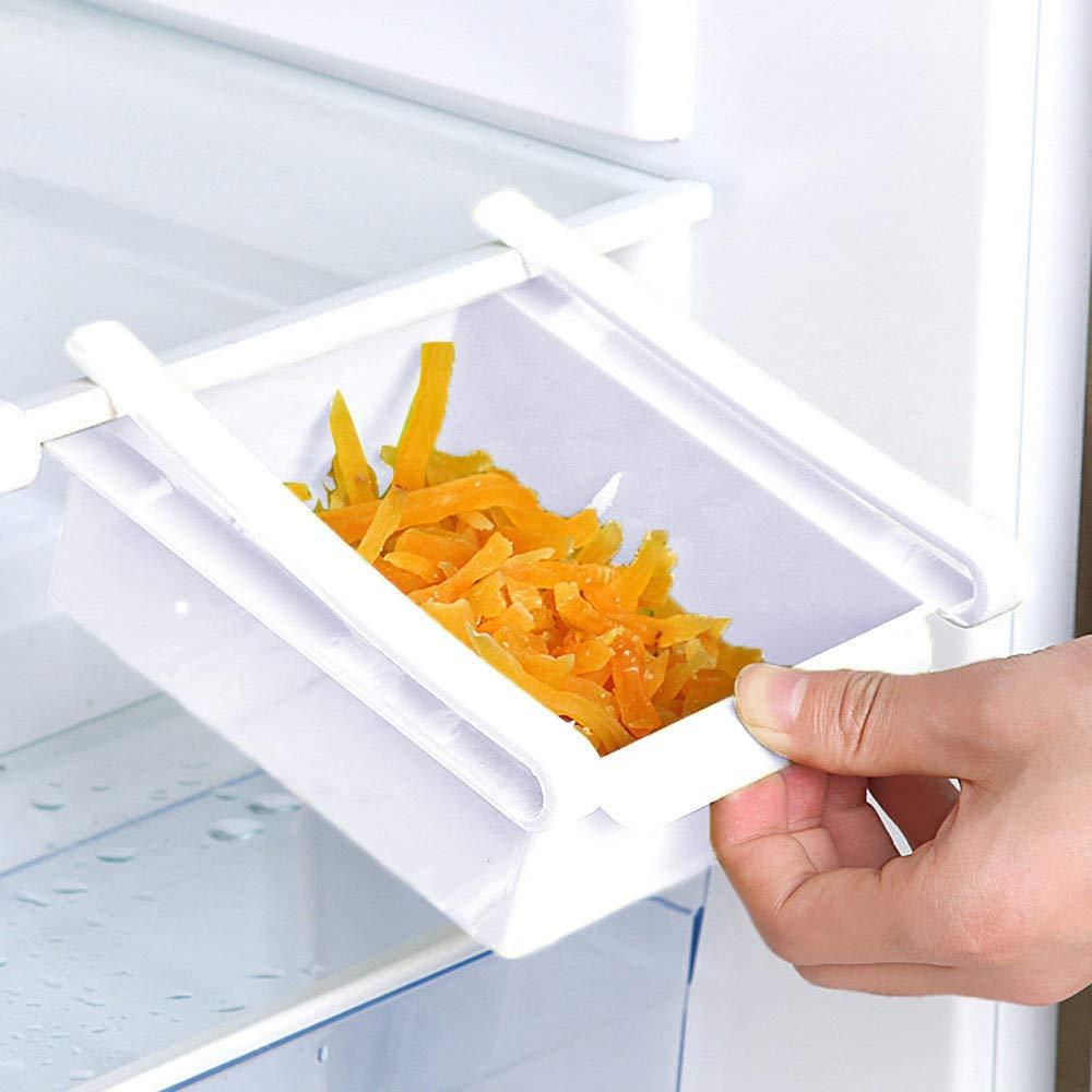 Gotian Refrigerator Shelf Food Storage Rack Storage Box Food Container Kitchen Tools White