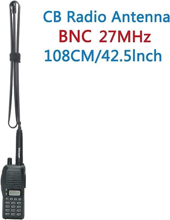 Duradera y Resistente al Desgaste Antena Walkie Talkie Potente compatibilidad Antena BNC Macho 27MHz Suave para Radio bidireccional Antena Suave