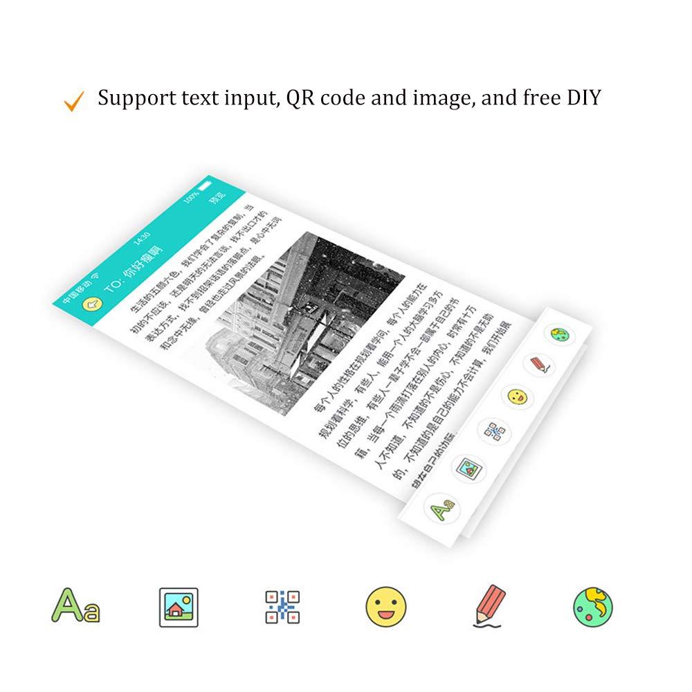 HBLWX Mini Impresora Bluetooth inalámbrica Impresora de Fotos de ...