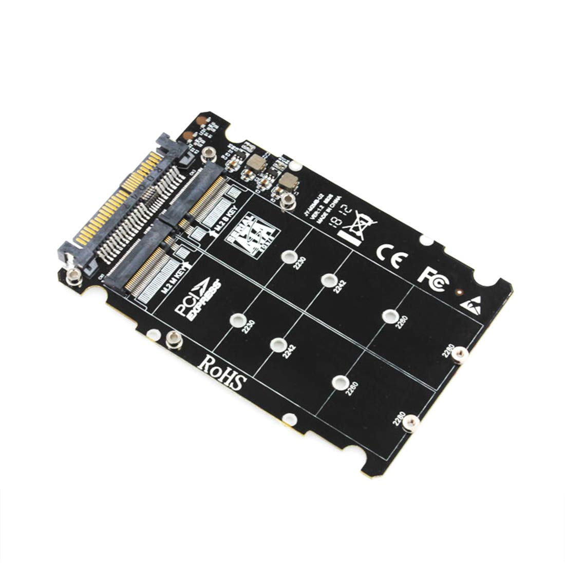 JMT NGFF M.2 SSD M Key to U.2 Adapter 2 in 1 M2 NVMe SATA-Bus to PCI-e U.2 SFF-8639 Adapter PCIe M2 Converter for Desktop PC