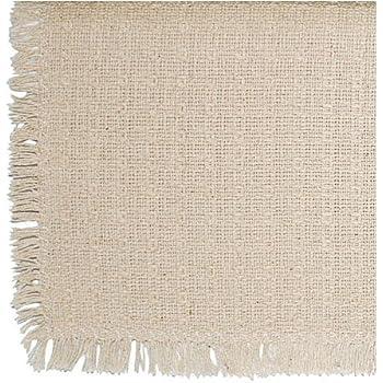62 X 90 (Rectangle) Homespun Tablecloth, Hand Loomed, 100% Cotton,
